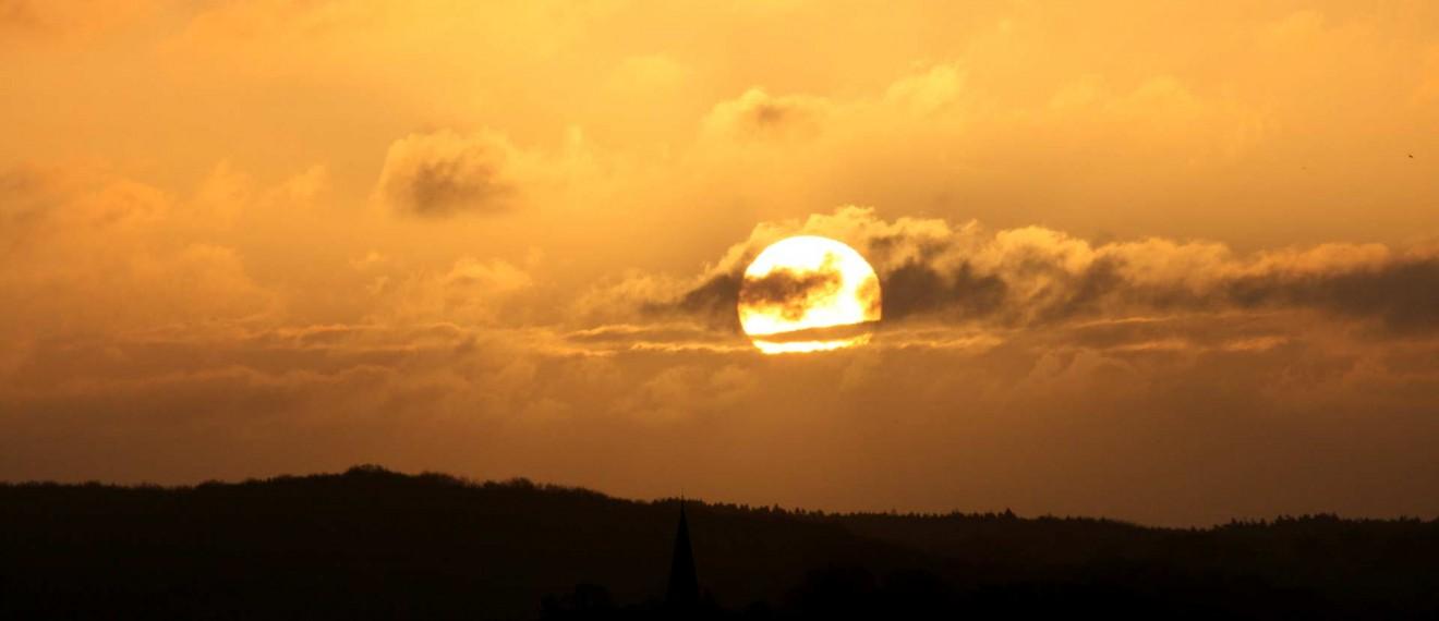 Sonnenaufgang über Vilmnitz